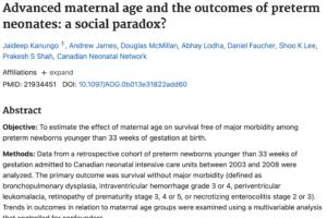 妊産婦年齢の上昇と新生児死亡率等の減少の関連